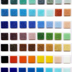 Teselas vitreas color liso