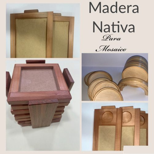 madera nativa para mosaico